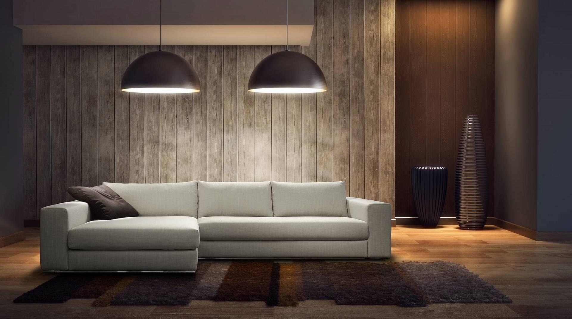 Idee per arredare il salotto studio selectiv - Divano al centro della stanza ...